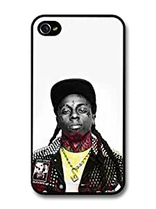 AMAF ? Accessories Lil Wayne Color Tattoo Rapper Singer case for iPhone 4 4S