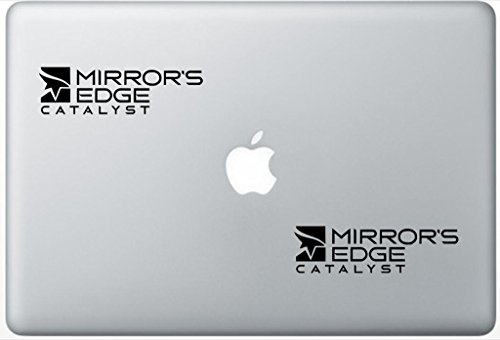 Mirror Edge Catalyst Logo HenryDecalZD0445 Set Of Two (2x) , Decal , Sticker , Laptop , Ipad , Car , Truck