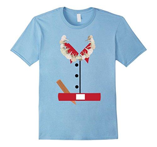 Mens Vampire Hunter Halloween Costume T-Shirt Funny Medium Baby Blue