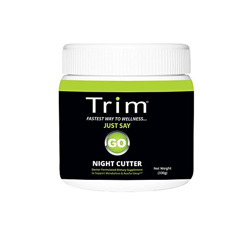 Trim Nutrition Night Cutter - Burn Fat While You Sleep - 5-HTP, L-Arginine, L-Theanine, L-Taurine, Vitamin C, Vitamin D, and Magnesium, 30 Servings by Trim Nutrition