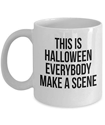 This is Halloween everybody make a Scene Costume Party Scary Face Printed Coffee Mug Gift Ideas Souvenir 18/3 j