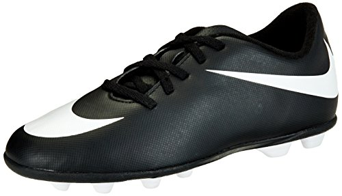 Nike Junior Bravata Firm-Ground Soccer Cleat Black/White Size 12 Kids US