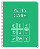 "BookFactory Petty Cash Log Book/Notebook/Journal - 120 Pages 8.5""x 11"" (LOG-120-7CW-PP-(PettyCash))"