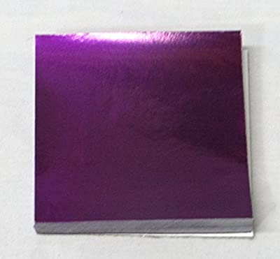 """500 3"""" X 3"""" Purple Confectionery Foil Wrappers Candy Wrappers Candy Making Supplies"""