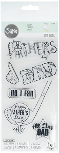 All Star Die Cut - Sizzix 662004 All Star Dad Clear Stamps (3 Pack)