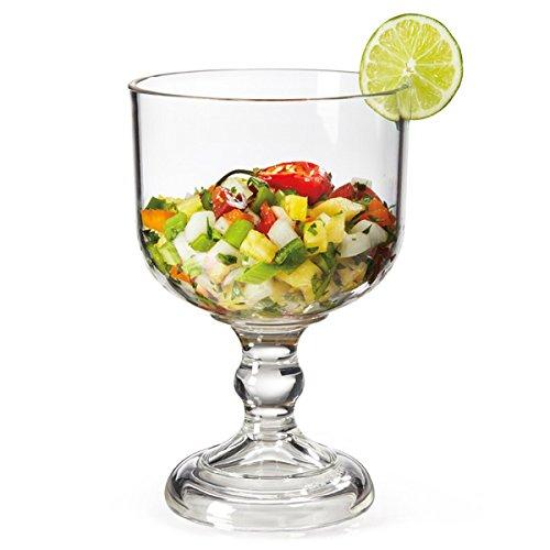 drinkstuff Super Schooner SAN Glass 38.8oz/1.1 Litre - Large Plastic Cocktail Sharer
