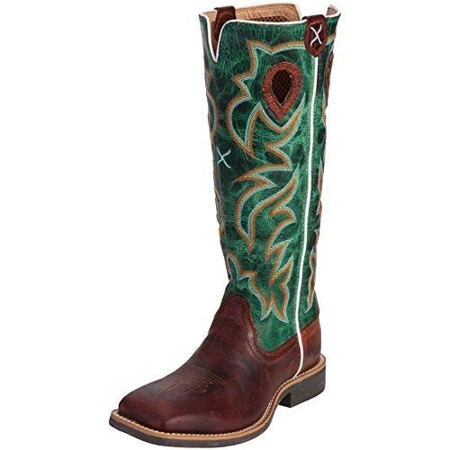 - Twisted X Boys' Turquoise Buckaroo Cowboy Boot Square Toe Cognac 5 D(M) US