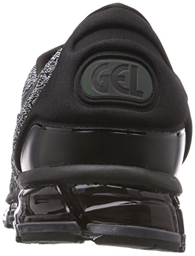 Asics Gel Hommes Quantiques Tricoter 2 360 Chaussures De Course Noir (9001 Noir Blanc Noir)