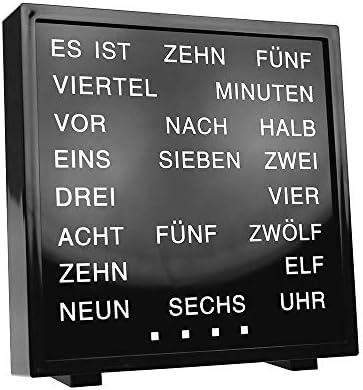 Monster Juguete Reloj de Mesa con Palabras, LED Palabra Reloj con Letras, Texto Reloj con Palabra Mostrar, Palabras Reloj con Texto Pantalla en Lugar de Números: Amazon.es: Hogar