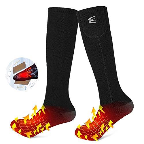 🥇 CRRXIN Calcetines térmicos eléctricos para Hombres y Mujeres