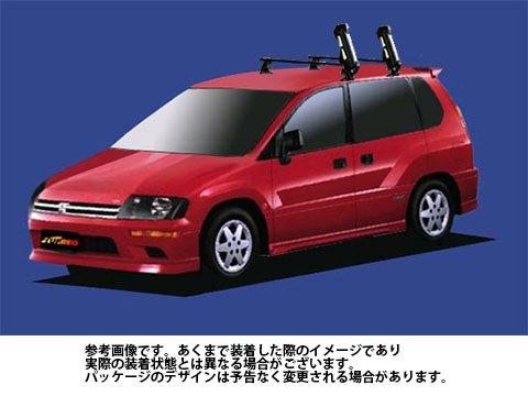 システムキャリア RVR 型式 N61W N64WG N71W N73WG N74WG SS スキースノボ 斜積 1台分 タフレック TUFREQ B06Y129LPJ