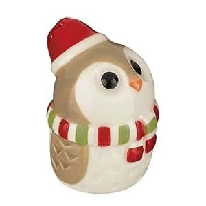 Grasslands Road - Christmas - Owl Salt & Pepper Shaker Set - Scarf - 471643