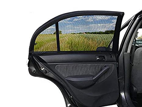 ESYNIC Car Sun Shade 2 Pack Universal Car Window Shade Mesh for Baby Women Kids Pet Breathable Sun Shade Net Backseat Fits Universal Car Window Most Cars SUVs Large Size