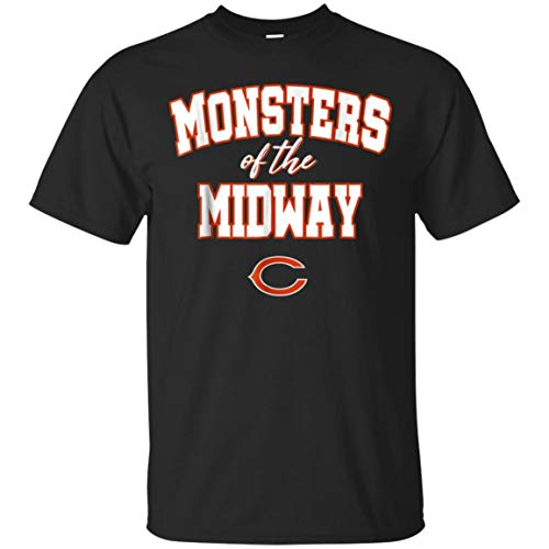 Monsters of The Midway Shirt (Unisex T-Shirt;Black;4XL)