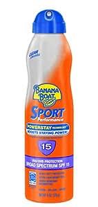 Banana Boat Sunscreen Ultra Mist Sport Performance Broad Spectrum Sun Care Sunscreen Spray - SPF 15, 6 Ounce