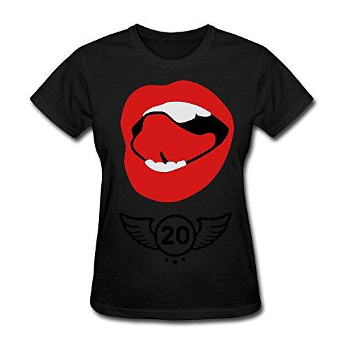 Unlongquhu Sexy Mouth Kiss Women's Short Sleeve Fashion T ShirtSize XS Color - Outlets Redding