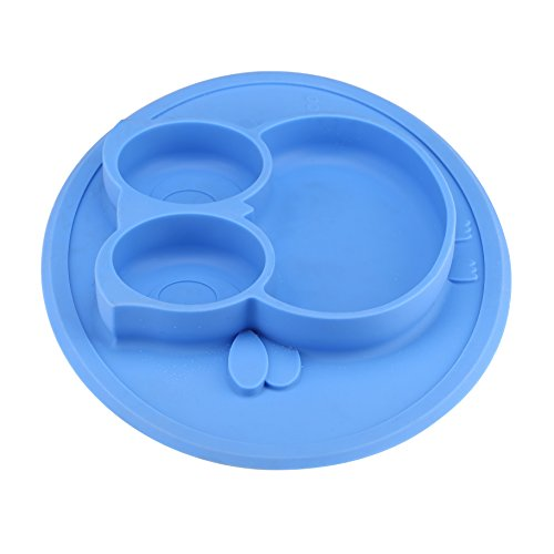Kirecoo Baby Placemat Owl Round Silicone Suction Feeding