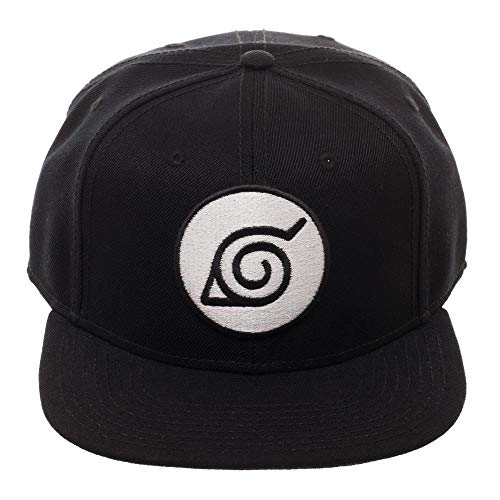 Naruto Black Leaf Snapback Hat