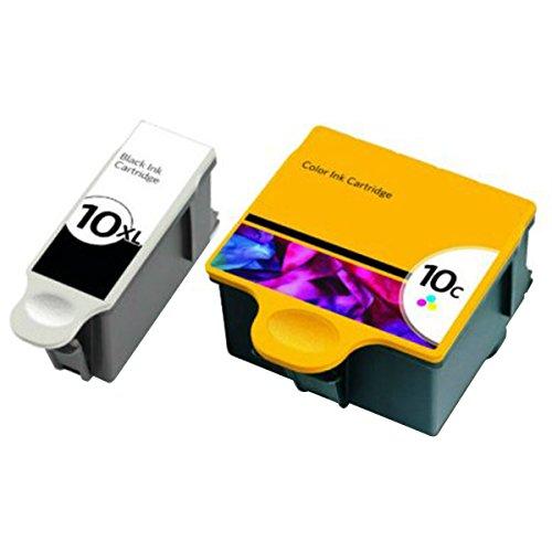 QINK for Kodak 10XL Black Kodak 10 Color Ink Cartridge 2-...