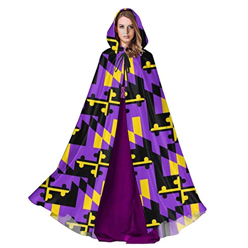 Halloween Costume Party Baltimore (2vf78wew11 Marland Flag Baltimore Unisex Hooded Cape Cloak Halloween Party Vampires Cosplay Costumes)