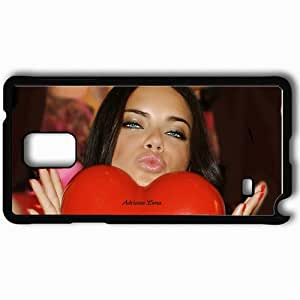 Personalized Samsung Note 4 Cell phone Case/Cover Skin Adriana Lima Black
