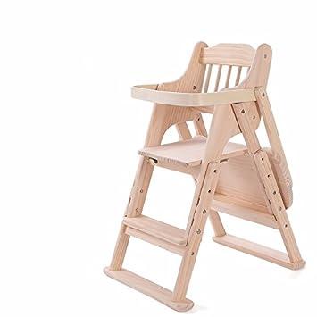Baby Hochstuhl Mit Tisch.Baby Hochstuhl Holz Verstellbare Multifunktionale Tragbare