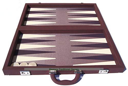 - Dal Negro Elite Bordeaux Backgammon Case - Burgundy