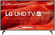 "Smart TV LED PRO 50"" Ultra HD 4K LG 50UM751C0SB, ThinQ AI, 4 HDMI, 2 USB,"
