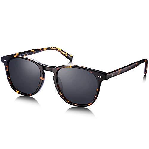 Carfia Unisex Polarized Sunglasses for Women Men UV Protection Acetate Frame CA5285 (Carfia Vintage Womens Polarized Sunglasses With Uv400 Protection)
