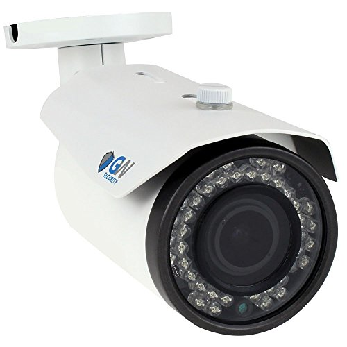 GW 5 Megapixel (2592 x 1920) H.265 Onvif PoE IP HD 1920p Outdoor/Indoor Bullet Security Camera with 2.8-12mm Varifocal Zoom Len, 130ft IR Night Vision (White)