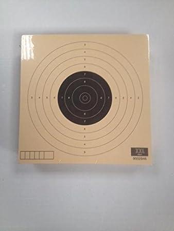 Klamer Paquete de 100 dianas de Tiro Olímpico de la modalidad de Pistola Aire 10 metros, tamaño 14 * 14 Cm, Fabricadas en cartulina de alta calidad Papel Col de 200 grs, color teja, antirreflejos.