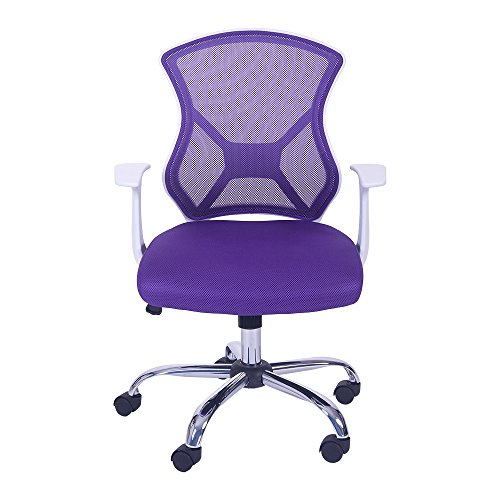 Merax Swivel Mesh Office Desk Task Chair With Armrest (purple) Icon
