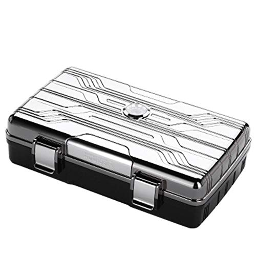 $106.27 cuban crafters humidor LUBINSKI Metal Gum Lined with Humidier and Hygrometer Cigar Travel Case Humidor 10 Count Fit Cohiba Cigars,Silver 2019