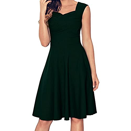 Angerella Womens Retro Dresses Elegant Green Cocktail Dresses For Junior
