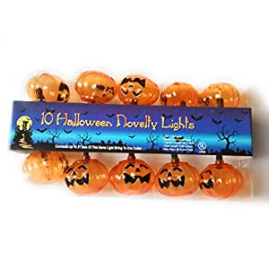 Celebrate the season Pumpkin Halloween Novelty Lights 10 Count