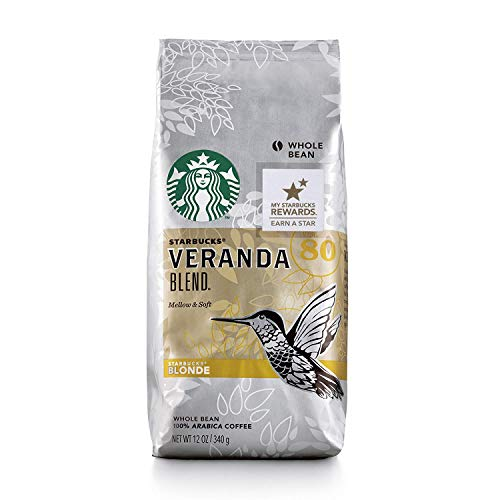 Starbucks Veranda Blend Coffee, Whole Bean, 12-Ounce Bags (Pack of 6)