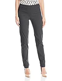 Women's Wide Band Pull-On Straight Leg Pant With Tummy...