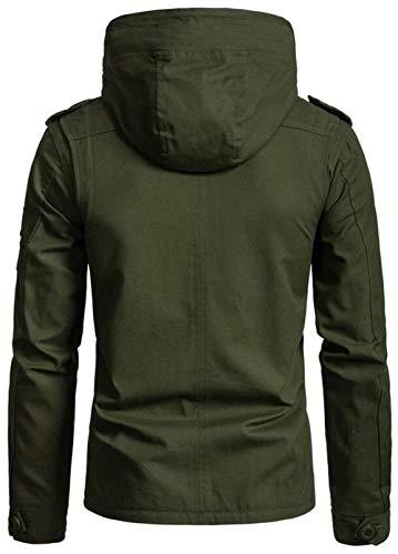 New New Lunga Jacket Pure Autunno Manica Capispalla Cappuccio Jacket Jacket Huixin Cappotto Grün Solidi Colori Con Allentata Mens Ragazzo Biker Cotton Trench Inverno PwzqWfIEB