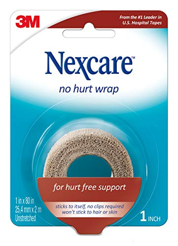 Nexcare No Hurt Wrap Tan 1 Inch X 2.2 Yard Stretched (Wrap Athletic Nexcare)