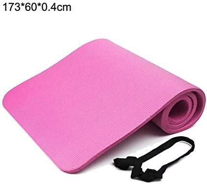 Eco friendly 1730 * 610 * 4ミリメートルEVAヨガマット非スリップ初心者フィットネス環境体操マット用カーペットのピラティスジムスポーツエクササイズパッド exercise (色 : Pink)
