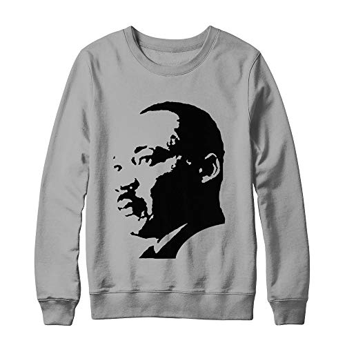 Martin Luther King Jr Equality Day American Civil Rights Leader Birthday Hanes - Ultimate Heavyweight Crewneck Sweatshirt Light Steel L