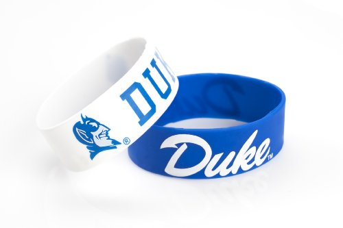 Fan Devils Blue Duke (aminco NCAA Duke Blue Devils Silicone Rubber Bracelet, 2-Pack)