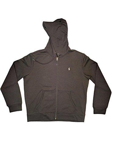 Polo Ralph Lauren Classic Full-Zip Fleece Hooded Sweatshirt (XX-Large, Black w/ Black Strings) (Fleece Ralph Lauren Mens)