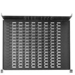 Dealsjungle Rackmount Vented 4 Point Adjustable Shelf, 19 inch Rack (Powerhouse Amplifier)