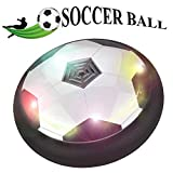 Toyk Kids Toys The Amazing Hover Soccer Ball with Powerful LED Light Size 4 Boys Girls Sport Children Toys Training Football for Indoor or Outdoor with Parents Game