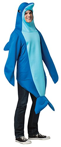 UHC Dolphin Outfit Funny Theme Party Adult Fancy Dress Halloween Costume, (Funny Womens Halloween Costume)