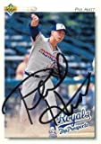 Phil Hiatt autographed baseball card (Kansas City Royals) 1992 Upper Deck Rookie #176 - Autographed Baseball Cards