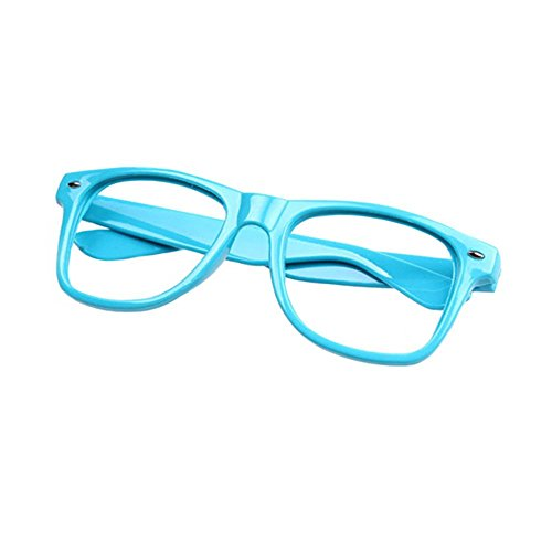 FancyG Classic Retro Fashion Style Glasses Frame Eyewear NO LENS - Sky Blue