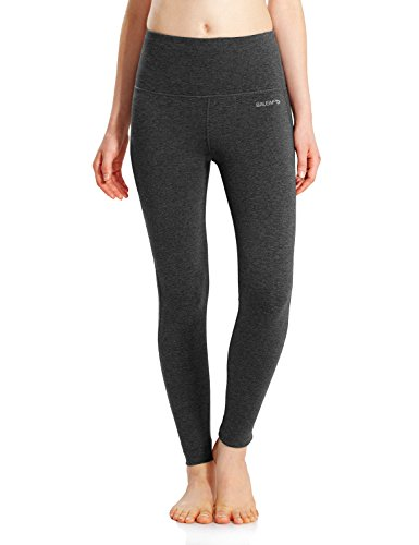 Baleaf Women's High Waist Yoga Pants Non See-Through Fabric Charcoal Size XXL