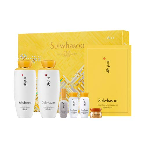 [Sulwhasoo] ソルファス 滋陰2種スペシャルセット(滋陰水+滋陰乳液+マスク+サンプル4点) Sulhwasoo Jaum Essential Set 海外直送品 B07SGW7MH5